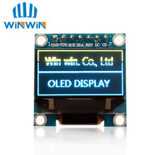 "Free Shipping 10pcs 0.96""yellow blue OLED module New 128X64 OLED LCD LED Display Module 0.96"" SPI Communicate(China)"