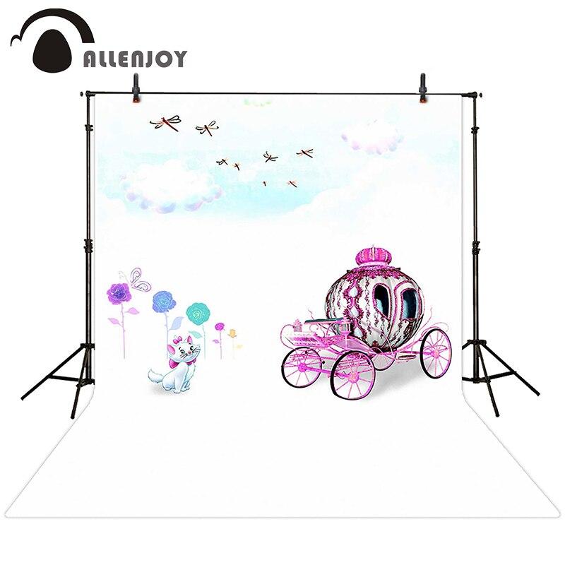 Allenjoy photographic background Cats coach Flower clouds backdrops newborn boy photo fabric 200cm*300cm<br><br>Aliexpress