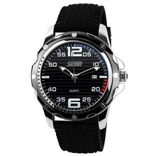 Famous Brand SKMEI Sport Jelly Quartz Men Casual Watch Calendar Date Work For Luxury Brand Men Dress Wristwatch 30M Waterproof(China)