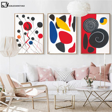 Colorful Circle Geometry Minimalist Art Canvas Poster Painting Abstract Wall Picture Print Modern Home Office Room Decor C202