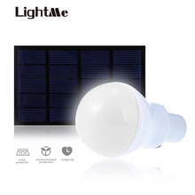 Lightme Outdoor LED Bulb 5V 15W 130LM Solar Power LED Light Garden Lamp Portable Lamps Solar Panel Light For Fishing(China)