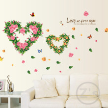 Garland decoration wall sticker home decor diy adhesive art mural picture removable vinyl wallpaper