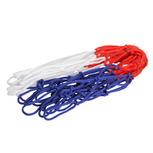 Standard 3mm Nylon Thread Basketball Net White Red Blue Rim Basketball Training Practice Mesh Net with 12 Loops BHU2