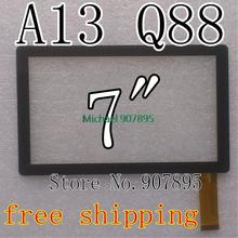 "2pcs 7"" capacitive touch screen with Glass Digitizer for 7inch Allwinner A13 Q88 MID tablet pc SX-Q8-Fpc"