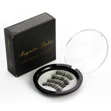 Shozy Magnetic eyelashes with 3 magnets handmade 3D/6D magnet lashes natural false eyelashes comfortable with Gift Box-KS02-3(China)