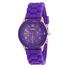 Wavors Fashion Unisex Geneva Watch Casual Women Men Silicone Rubber Jelly Gel Quartz Watch Analog Sports Watches Candy Colors