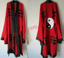 Taoism tunic suits Taoist priest clothing tai chi kung fu bagua garments uniforms Gossip clothes vestment martial arts red(China)