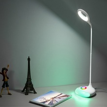 Rechargeable LED Table Lamp USB Touch Sensor LED Dimmable Desk Lamp Adjustable RGB Nightlight Color Changeable