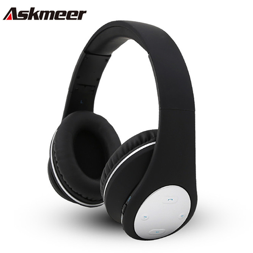 Askmeer BT-990 Wireless Bluetooth Headphones Foldable Stereo Headset with Microphone Mic for iPhone Xiaomi Handsfree Calls<br>