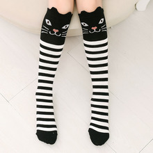 New Women's Socks Lovely Cartoon Animal Ears Warm Thigh High Over The Knee Socks Long Stockings For Girls Ladies Leg Warmers(China)