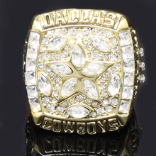 MEMOPOI USA Rugby 1995 Dallas Cowboys Super Bowl Championship Ring Classic Collection Ring for Fans Best Gift ME0088(China)