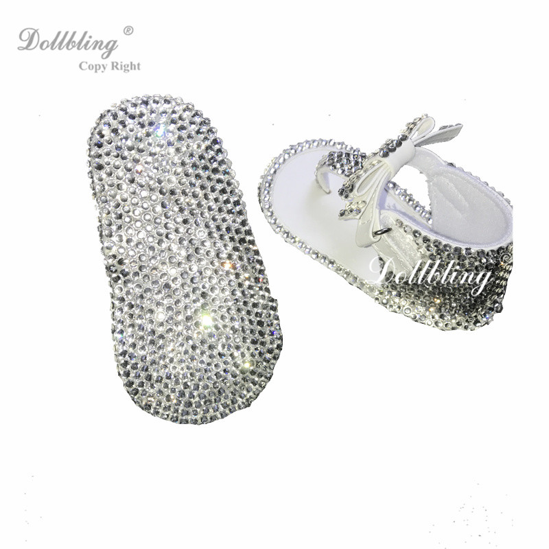 Dollbling Designed All Covered clear DMC Rhinestones Baby Sandal Christening  Breakfast At Sandbeach Baby Shoes Go for A Holiday 511e620fecbd