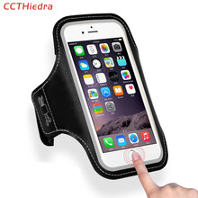 CCTHiedra Fingerprint Unlock Sports Running Arm Band Phone Case Bag For iPhone 8 7 6 6s Plus SE 5 5C 5S PU Waterproof Pouch(China)