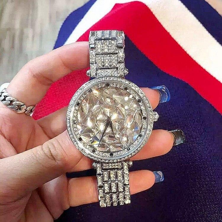 2017 Luxury Brand Bling Rhinestone Steel Silver Quartz Womens Watch Fashion Crystal Dial Rose Gold Ladies Dress Wrist Watches<br>