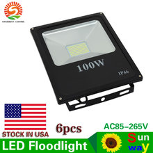 LED Flood Lights 50W 100W SMD 5730 Ip65 Waterproof Flood Lamp Yard Garden Lighting Outdoor Wall Floodlights AC85-265V US SHIP(China)