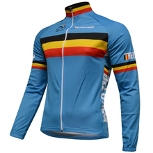 Belgium brand cycling zersey 2017 men blue cycling jersey long sleeve Bike Clothes cycling Wear Racing Bicycle Clothes(China)
