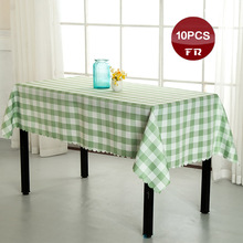Shipping FREE 10PC Vintage Home Table Cloth Polyester 100% Machine Washable Small Dining Table Covers Linen for Hotel Restaurant