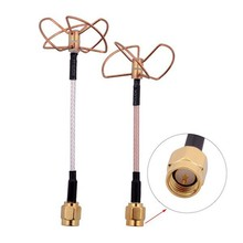 1Pair High Quality 5.8 GHz FPV Straight Shape L Type Inner Needle/Inner Hole Cloverleaf 5.8Ghz Antennas Set for RC Helicopter