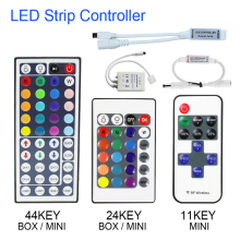 1set Remote Control Dimmer DC 12V 24keys Box 44keys 11keys Mini LED Controller for SMD 3528 5050 2835 Led Strip Light no battery