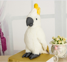 25cm Simulation Cockatoo Plush Toys Kawaii White Parrot Stuffed Toys Cockatoos Dolls For Kids Gifts Free Shipping(China)