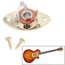 Gold Oval Guitar Output Plate Metal Durable For LP Gibson Electronic Guitars & Basses Parts Accessories Tuners Gear Kit