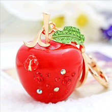 Ms resin small apple car key chain like small gift accessories company