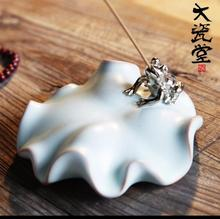 China handmade ceramic incense plating lotus toad interpolation aroma stove  new
