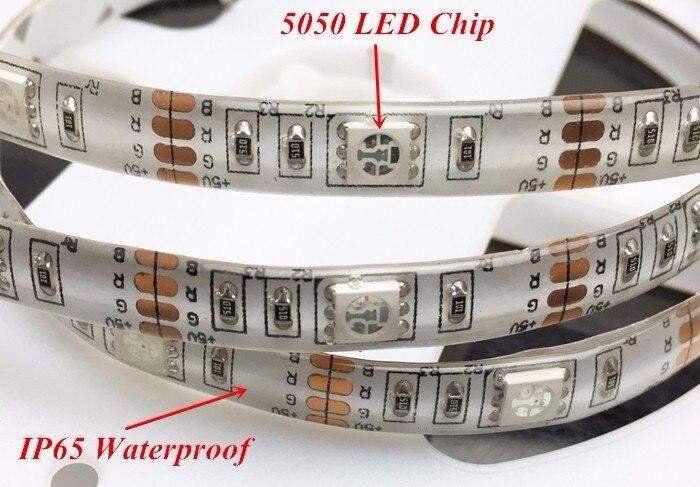 5M 5050 LED Strip USB Charge IP65 Waterproof Flexible RGB Led Strip Lighting 24keys IR Remote Controller USB RGB LED Tape Strip (10)