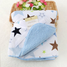 Double-deck Baby Blankets Newborn Swaddle,Coral Fleece Envelope For Newborns,Baby Bed Linens Baby Sleeping Blanket Stroller Wrap