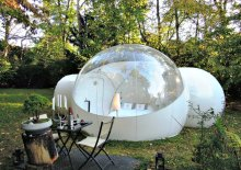 Inflatable transparent PVC material dome tent for sale