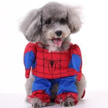 New arrival cute funny dogs cats Batman Spiderman costume doggy lovely clothes outwear puppy jacket clothes pet dog suit 1pcs