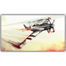 North American P-51 Mustang World War II Jets Fighter Picture Home Decoration Picture Wall Art  Silk Poster Printing YL222