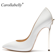 New 8cm/10cm/12cm High Quality Sexy Women Pumps Pointed Toe shoes Bowtie Thin High Heels Wedding Shoes Pumps Party Shoes