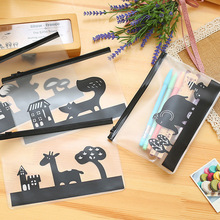 Novelty Animals Cartoon Elephant Pen Bag Storage Organizer Bag Stationery Bag FOD school pencil case for girls boys(China)