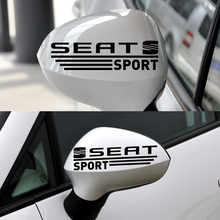 1 Set Customization SEAT Rearview Mirror Stickers Decal Car-Styling for Seat Leon Ibiza Altea Cordoba Toledo Car Accessories