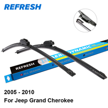 "Refresh Wiper Blades for Jeep Grand Cherokee 21""&21"" Fit Hook Arms 2005 2006 2007 2008 2009 2010"
