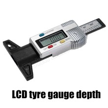 best selling car auto Digital LCD hot sale Car Motorbike Tyre Tread Depth Gauge/Check/Tester Silver beauty design(China)