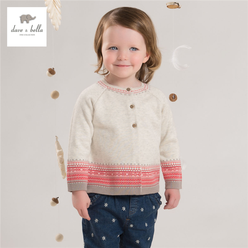 DB4182 dave bella autumn baby girl orange striped cardigans girls apricot textile kid sweater<br><br>Aliexpress