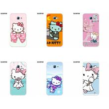 Exunton TPU Design Customized For Galaxy Alpha Core Prime Note 2 3 4 5 S3 S4 S5 S6 S7 S8 mini edge Plus Hello Kitty Sanrio(China)
