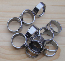 300pcs/lot Stainless Steel Beer Bar Tool Finger Ring Bottle Opener, Personalized logo is free(China)