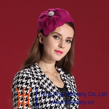 Free Shipping Women Wool  Fascinator Hair Romantic Purple Flower  Ladies' Hair Accessories with Noble Fashion and Elegant Woman
