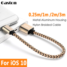 Colorful Nylon USB Data Charger Cable Micro USB Data Datum Charger Cable Cord Wire For iPhone 5 5s 6 6Plus 7 IOS10 Power Bank