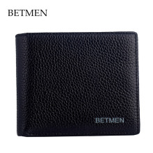BETMEN luxury brand men wallets genuine leather wallet purse male card holder pocket wallet(China)