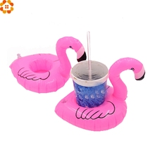 3PCS Mini Cute Flamingo Floating Inflatable Drink Can Cell Phone Holder Stand Pool Party Event&Party Supplies Kids Gift Toys(China)