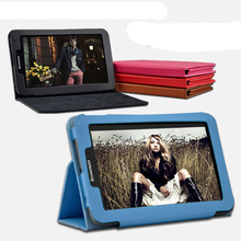 "New Luxury 2-Folding Folio Stand Holder Leather Skin Case Protective Cover For Lenovo IdeaTab LePad A2 A2107 A2207 7"" 7inch(China)"