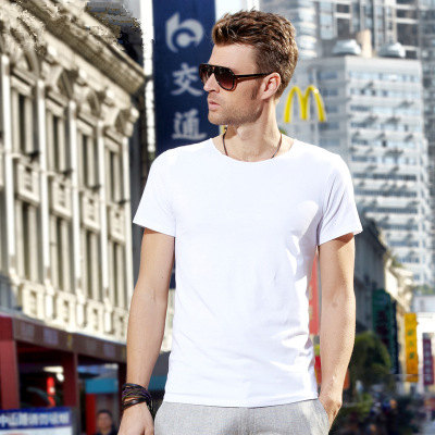 MRMT 2018 Brand New Mens T Shirt Short Sleeved T-Shirt V Collar Two Button Buttons Solid Colored Tshirt For Male Tops 62