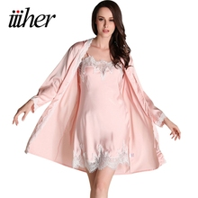 iiiher Bridesmaid Robes Gown Sets Sexy Lace Robe Women's Sleepwear Sleep Suits Pajama Sets Womens Nightwear Night Skirts(China)