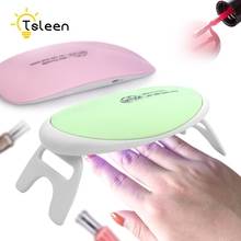 TSLEEN 1PC Mini USB Finger Nail Lamp Portable 6W UV Dryer LED Curing Gel Manicure Art Tools+Cable(China)