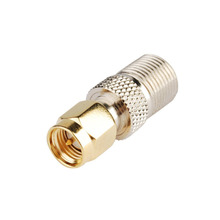 ALLISHOP 10Pcs SMA male to F female F Type Straight TV Jack F/F RF Coaxial Adapter Connector for Wireless Antenna