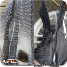 TSTD12750  1M * 10M new pattern popular white transparent  carbon fiber bee net Hydrographics Film Water Transfer Printing Films